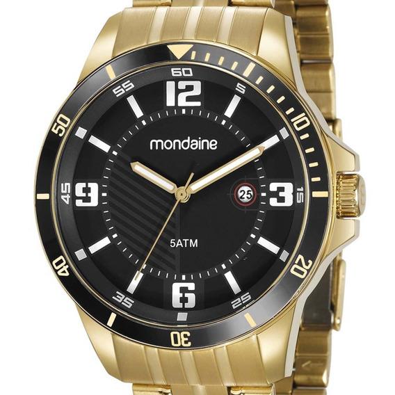 Relógio Mondaine Masculino 78759gpmvda2 Dourado + N. Fiscal