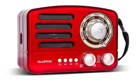Rádio Retro Vintage Bluetooth Usb Sd Com Am/fm/sw Antigo