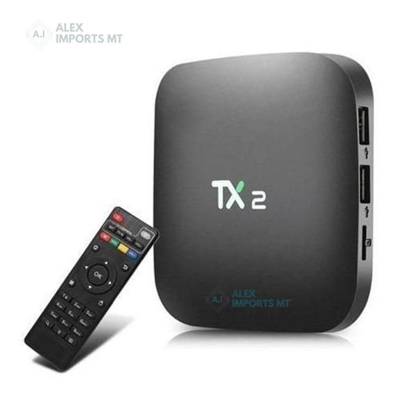 Tv Box Tx2 4k 8.1 Bluetooth Quad Core 2gb /16gb