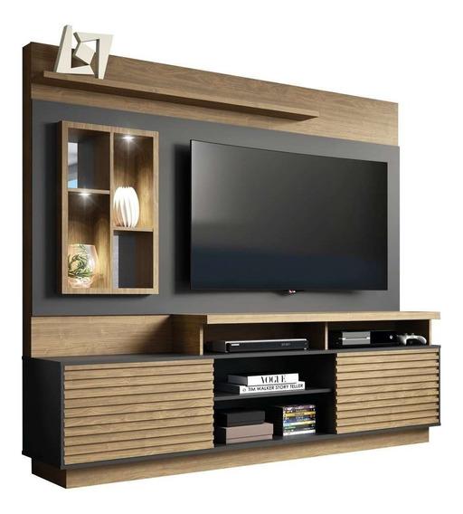 Estante Home Para Tv 65 Polegadas Eldorado Avelã Preto