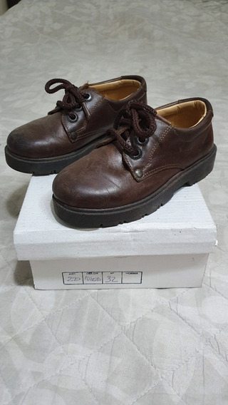 Zapatos Colegial Color Marron T 32