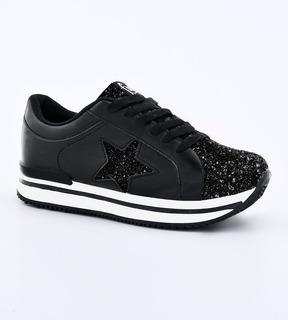 Zapatillas Niñas Up Plataforma Estrellas Glitter Footy Up379