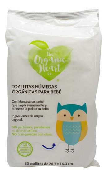 Pack De 4 Toallitas Húmedas C/80 Pzas The Organic Heart