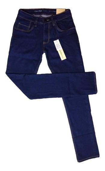 Calça Jeans Masculina C*k Original Crumple Escura Stretch