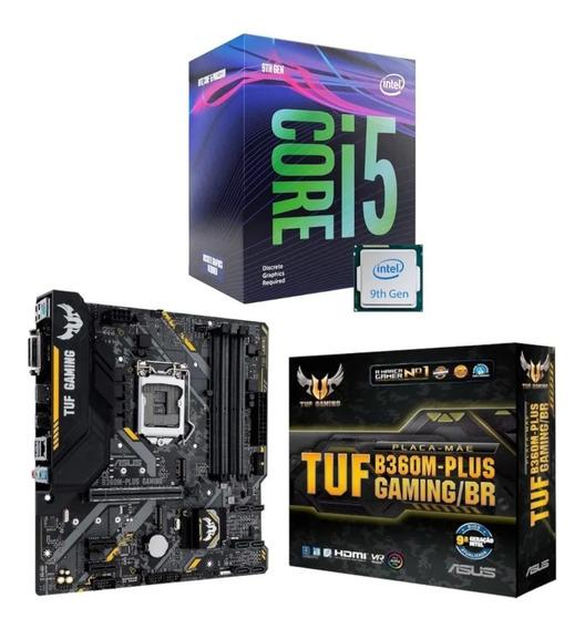 Kit Processador Intel I5 9400f + Asus Tuf B360m Plus Gaming