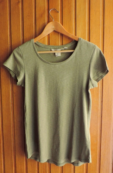 Remera Basica H&m Color Verde