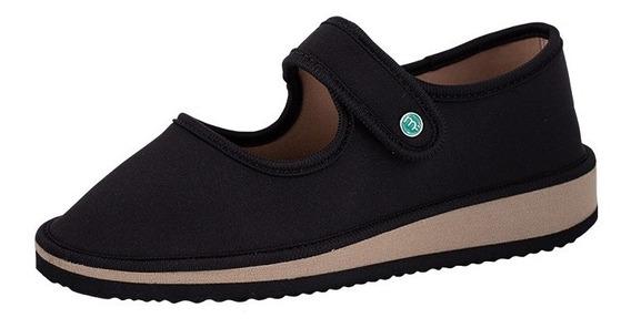 Sapato Boneca Para Esporão E Fascite Mundoflex - Preto