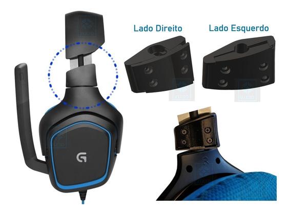 Kit 2 Lados Peças Tampas Reposição Fone Logitech G430 G930