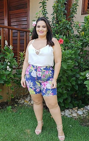 Carabina Conjuntos Short Blusinhas+body Variedades Plus Size