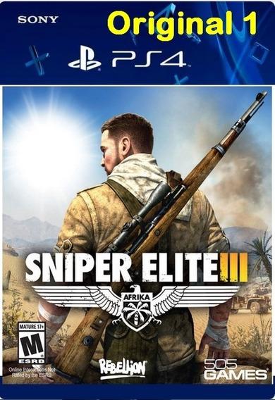 Sniper Elite 3 - Ps4 Cod 1 Env Já