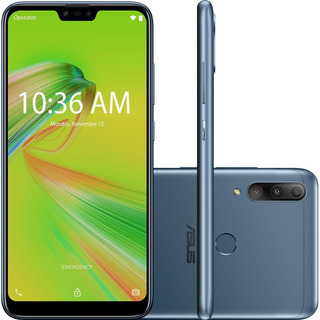 Celular Asus Zenfone Max Shot Azul 64gb Cam 12mp 5mp 8mp
