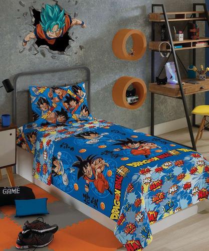 Jogo De Cama Infantil Microfibra Dragon Ball 2 Peças