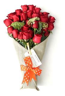 24 Rosas Rojas Y Flores A Domicilio En México D.f