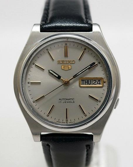 Relógio Seiko 5 Automático 7009 457lr Prateado Perfeito.
