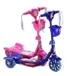 Scooter Monopatín Para Niña Y Niño Con Luces Y Musical