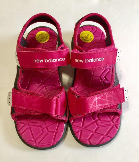 Sandalias Niña New Balance Goma Importadas Usa Con Velcro