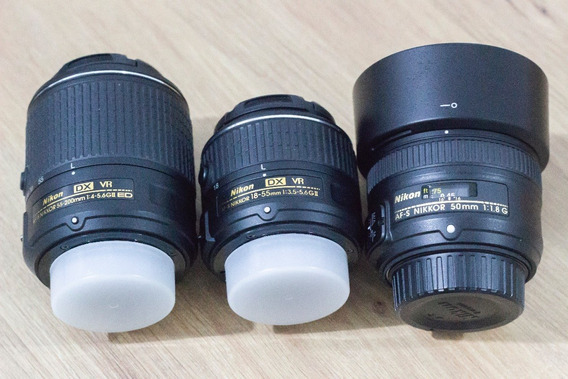 Nikon 3 Lentes Nikon + Bolsa Nikon + Notas Fiscais