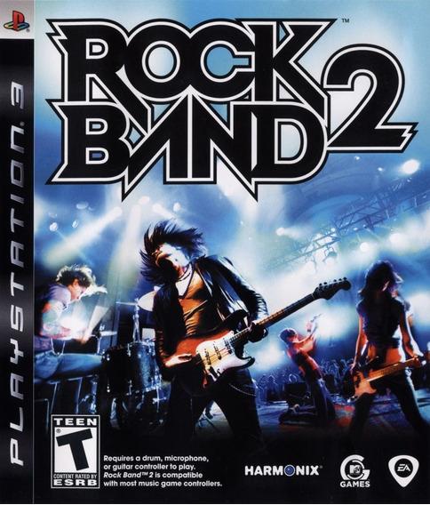 Jogo Rock Band 2 Playstation 3 Ps3 Mídia Física Música Game