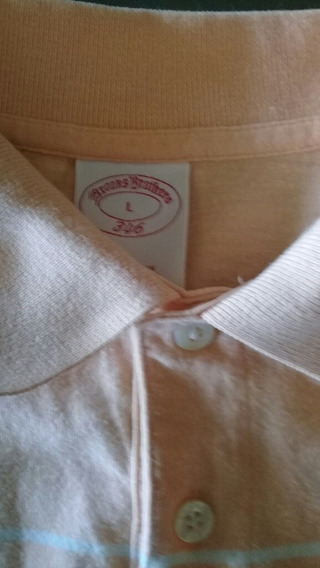 Polo Brooks Brothers Talla L Con Logo