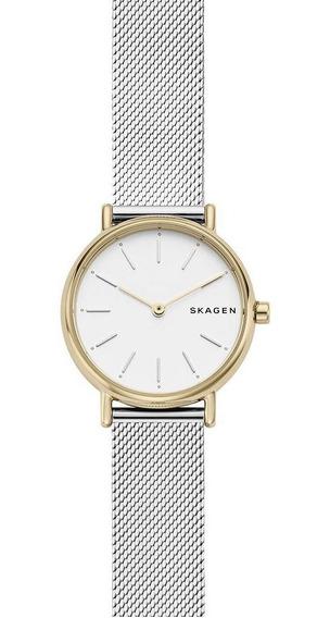 Relógio Skagen Feminino Signatur Dourado Skw2729/1kn