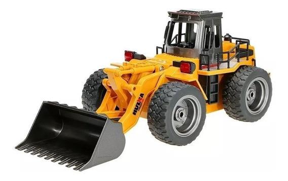 Trator Escavadeira Huina 6 Ch 1520 Controle Rec Partes Metal