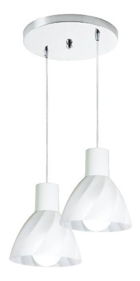 Luminária Pendente Vidro Sala Cozinha Balcão Anello 2 Vidro