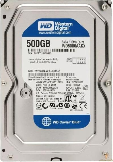 Hd Western Digital Wd500aakx 500gb