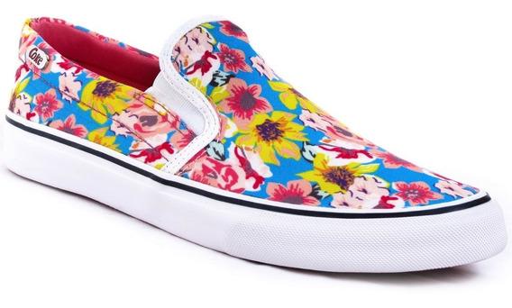 Zapatillas Coca Cola Shoes Iate Floral Urbanas Moda Mujer