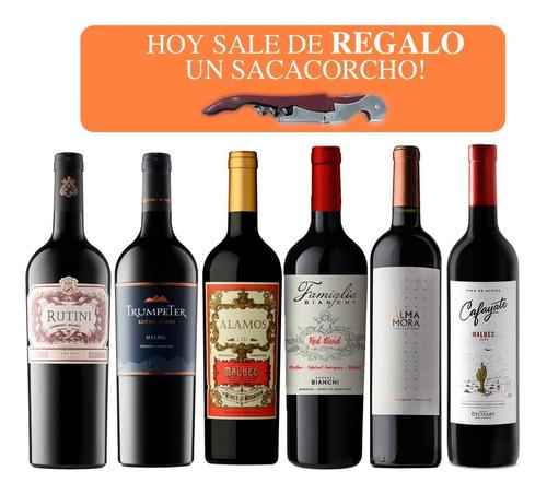 Vino Premium Surtidos (caja 6 Botellas X 750). Quirino