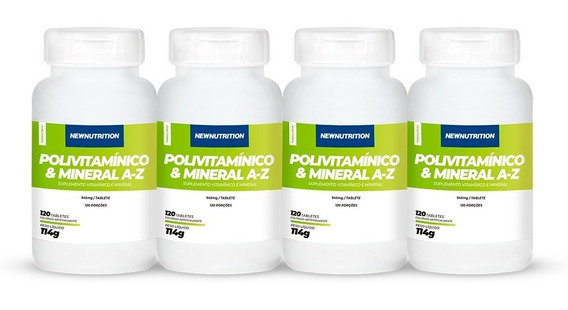 Kit 4 Multivitamínico Mineral De A-z 120tabletesnewnutrition