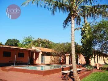 Chácara Com 3 Dormitórios Para Alugar, 4000 M² Por R$ 6.500,00/mês - Jardim Florestan Fernandes - Ribeirão Preto/sp - Ch0067