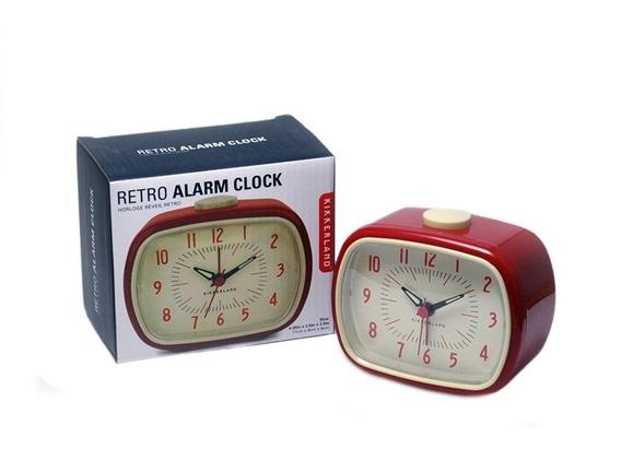 Reloj Con Alarma Retro Rojo