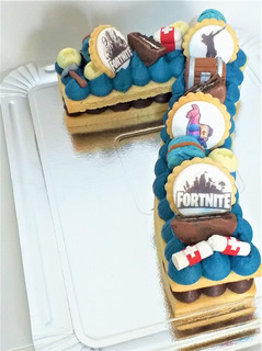 Tortas Números Decoradas Temáticas Fortnite, Cake Number