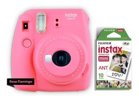 Câmera Instax Fuji Mini 9 + Filme 10 Poses Todas As Cores