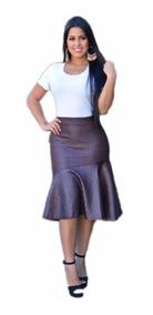 Saia Midi Social Linda Evangélica Secretária Gospel Top #sv