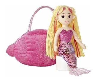 Peluche Aurora Sirena Pink Conch Mermaids123