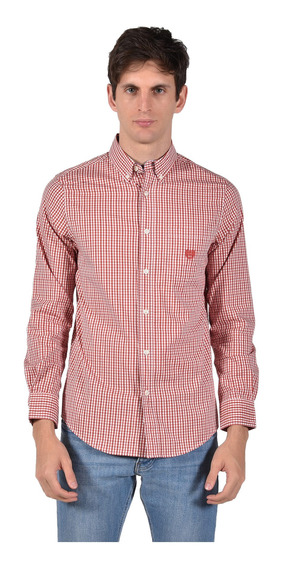Camisa Stretch Fit Chaps Naranja 750722895-33p0 Hombre