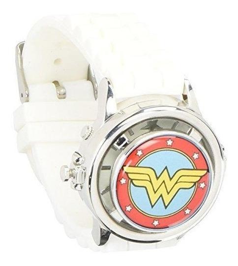 Reloj Wonder Woman Dc Nuevo Original Spinner