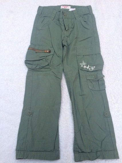 Pantalon Cargo Se Hace Bermuda Oshkosh Verde Nena 5 6 Años