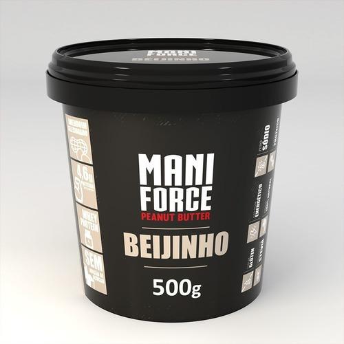 Imagem 1 de 3 de Maniforce Pasta De Amendoim Beijinho 500g C/ Whey Protein