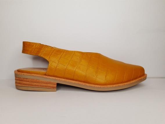 Zapatos Viamo Bridget Mostaza Con Elástico En Talón