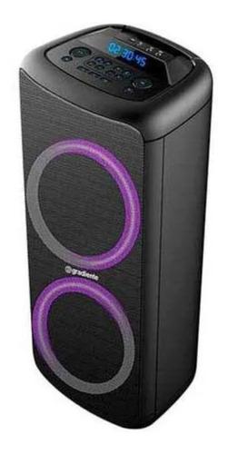 Caixa de som Gradiente Extreme Colors GCA203 portátil com bluetooth preta 110V/220V