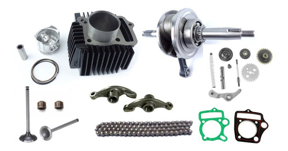 Kit Motor Completo Pop100 2007 A 2012 + Virabriquim
