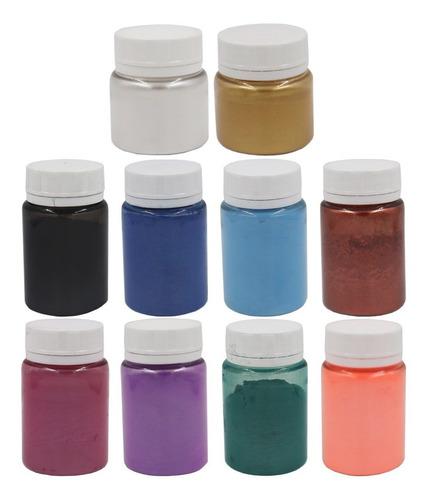 Kit: Todos Os Pigmentos Perolados P/ Resinas E Plastisol