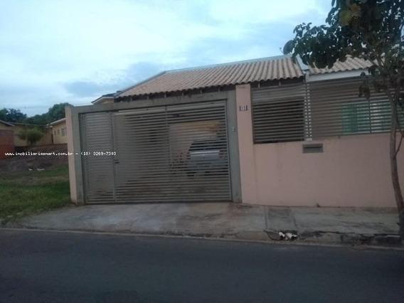 Casa Para Venda Em Pirapozinho, Residencial Padre Hilario, 2 Dormitórios, 1 Suíte, 1 Banheiro, 2 Vagas - 4081