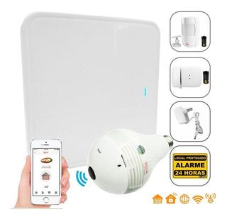 Kit Alarme S/ Fio Wifi Residencial Spirit Ppa Câmera Sensor