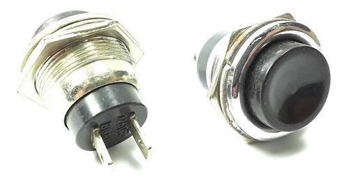 Pulsador De Intercomunicador Negro 3a 125v Ref: Pul08