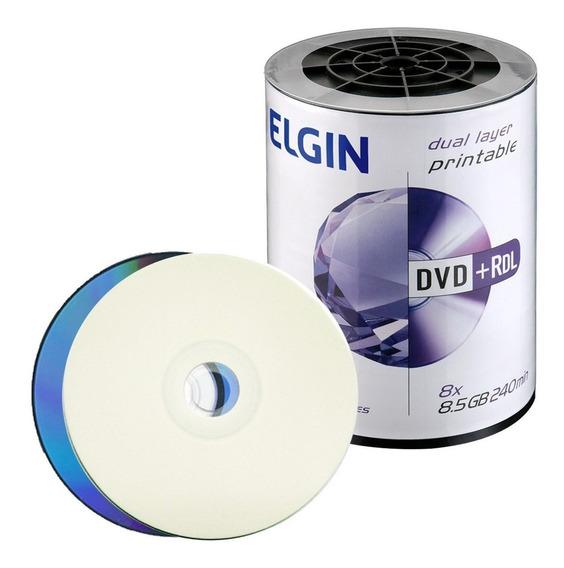 100 Dvd Dl Elgin 8,5gb Printable Grava Xbox360 Frete Grátis