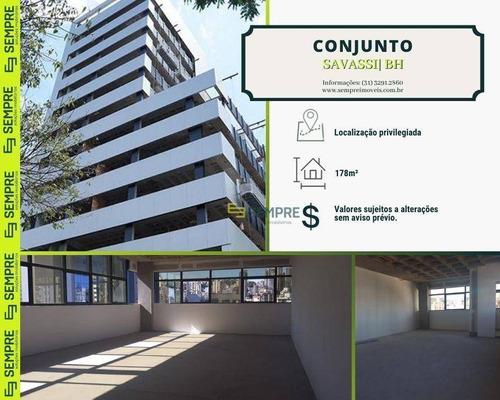 Imagem 1 de 19 de Conjunto À Venda, 178 M² E 03 Vagas - Savassi - Belo Horizonte/mg - Cj0001