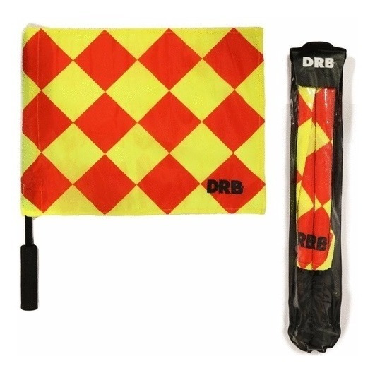 Pack X 2 Banderines Para Arbitro / Juez Con Estuche Drb